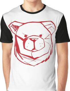 Robust Bear Logo Red Graphic T-Shirt