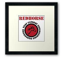 Cool Horseman Redhorse USAF Combat Squadron Engineering T-shirt Framed Print