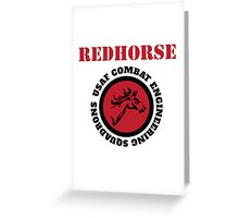Cool Horseman Redhorse USAF Combat Squadron Engineering T-shirt Greeting Card