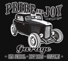 Pride and Joy Hot Rod Garage dark bkg Baby Tee