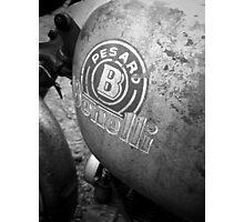 Pesaro Benelli vintage motorcycle Photographic Print