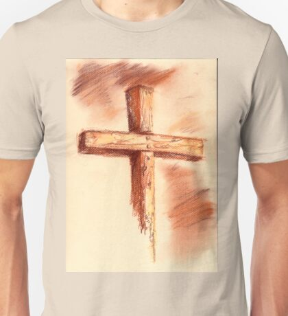 conte sketch of the cross T-Shirt