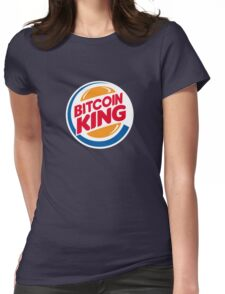Bitcoin King Womens Fitted T-Shirt