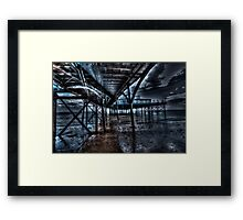under the pier Framed Print