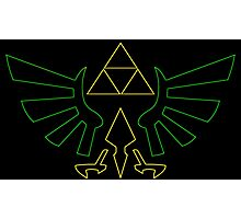 °GEEK° Triforce Neon Logo Photographic Print