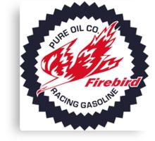 Pure Firebird Racing Gasoline vintage sign reproduction Canvas Print