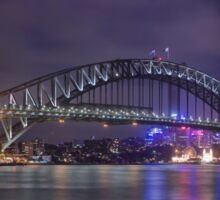 Sydney Harbour Bridge By Night Sticker