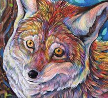 Colorful Autumn Fox Sticker