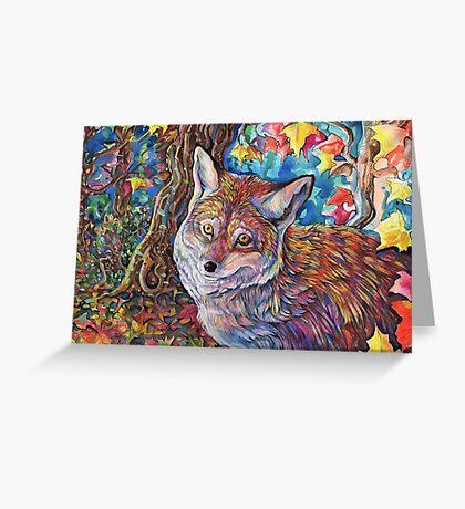 Colorful Autumn Fox Greeting Card