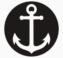 anchor inside black circle by Fuchs-und-Spatz
