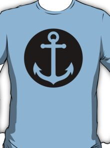anchor inside black circle T-Shirt