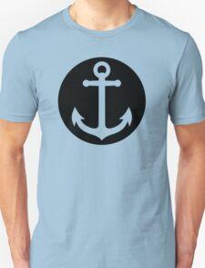 anchor inside black circle T-Shirt