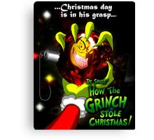GRINCH FOR CHRISTMAS SMILE Canvas Print