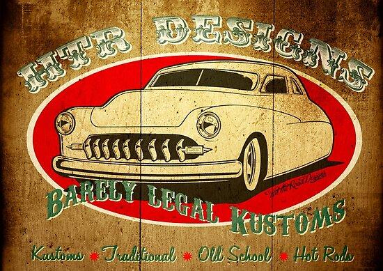 HTR Designs Barely Legal Kustoms garage by htrdesigns