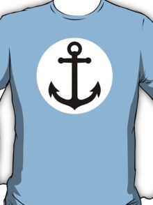 Black anchor inside white circle T-Shirt