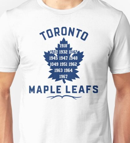 Toronto Maple Leafs Stanley Cup Years Unisex T-Shirt