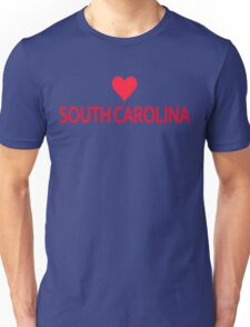South Carolina with Heart Love Unisex T-Shirt