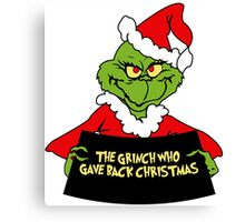 GRINCH FOR CHRISTMAS GAVE Canvas Print