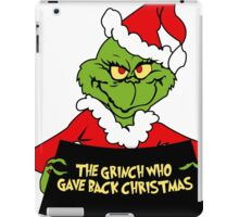 GRINCH FOR CHRISTMAS GAVE iPad Case/Skin