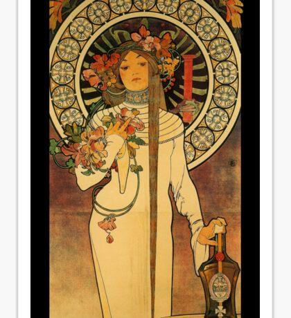 Art Nouveau Woman and Liqueur  Sticker