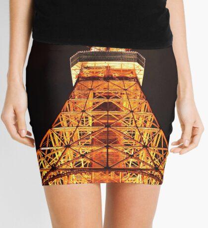Tokyo Tower In The Dark Mini Skirt
