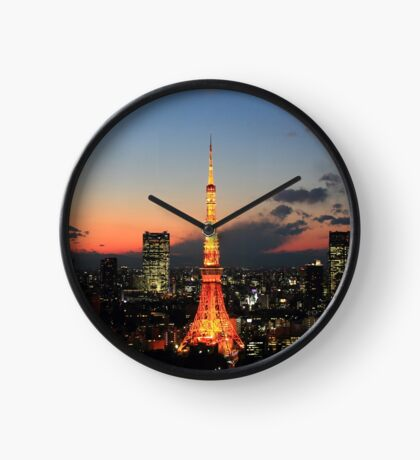 Tokyo Tower By Night Clock