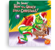 GRINCH FOR CHRISTMAS TREE Canvas Print