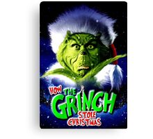 GRINCH FOR CHRISTMAS GREEN Canvas Print