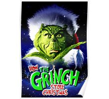GRINCH FOR CHRISTMAS GREEN Poster