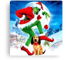 GRINCH FOR CHRISTMAS MOON Canvas Print