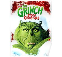 GRINCH FOR CHRISTMAS FACE Poster