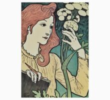 Beautiful red headed woman vintage art nouveau expo ad One Piece - Long Sleeve