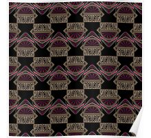 Seamless antique art deco pattern ornament. Geometric stylish background repeating texture Poster