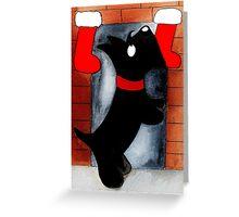 Scottie Dog 'Where is Santa?' Greeting Card