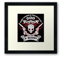 Cool Limited Edition Defend Your Second Amendment Gun Right Skull T-Shirt Framed Print