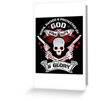 Cool Limited Edition Defend Your Second Amendment Gun Right Skull T-Shirt Greeting Card