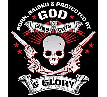 Cool Limited Edition Defend Your Second Amendment Gun Right Skull T-Shirt Photographic Print
