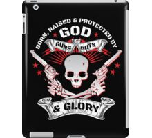 Cool Limited Edition Defend Your Second Amendment Gun Right Skull T-Shirt iPad Case/Skin