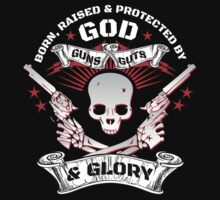 Cool Limited Edition Defend Your Second Amendment Gun Right Skull T-Shirt by Albany Retro