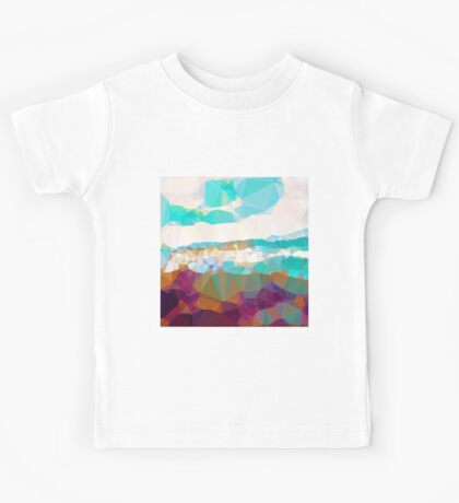 Abstract,polycon,polygonal,landscape,nature,multi color,modern,trendy,elegant,contemporary art Kids Tee
