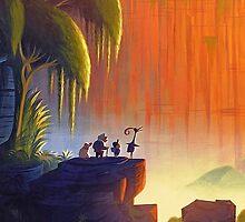 Up - Fredricksen, Kevin, Dug, Russell Panorama by Mellark90