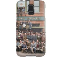 Harley Davidson gang and Bike Shop ca 1925 Samsung Galaxy Case/Skin