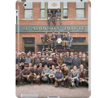 Harley Davidson gang and Bike Shop ca 1925 iPad Case/Skin