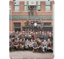 Harley Davidson gang and Bike Shop ca 1925 iPad Case/Skin