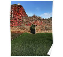 The walled garden in Harewood Poster