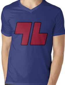 96 Red - Sun and Moon Mens V-Neck T-Shirt