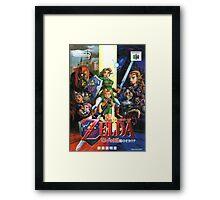 LoZ Ocarina of Time Framed Print