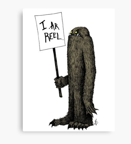 Bigfoot the Subtle Cryptid Canvas Print