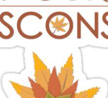 Door County Wisconsin Fall Colors Sticker