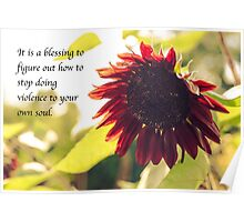 Ending Soul Violence/Red Sunflower Poster